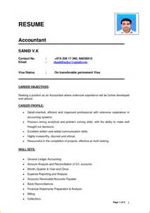 model resume format accountant - Model Resume Format