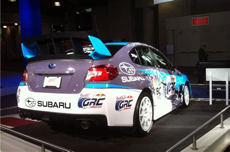subaru car back 2015 subaru wrx sti rally car shown at new york show