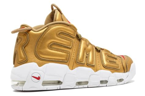 Nike Uptempo X Supreme Gold Premium supreme nike air more uptempo gold release date 902290 700 sole collector