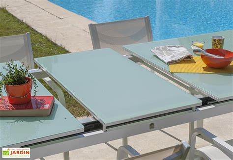 table de jardin en aluminium avec rallonge 1077 salon de jardin avec rallonge mykonos aluminium verre