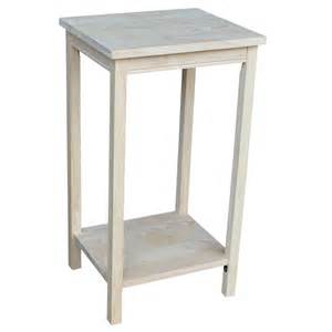 Unfinished Side Table International Concepts Portman Unfinished End Table Ot 42 The Home Depot
