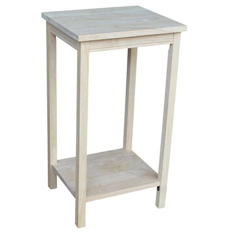 unfinished accent table international concepts portman unfinished end table ot 42 the home depot