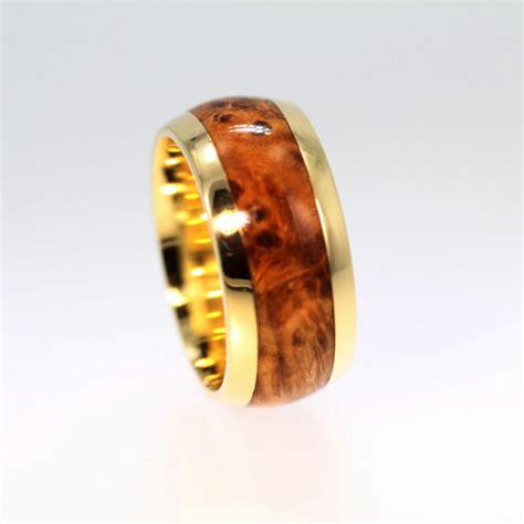 mens wedding rings with wood inlay black ash burl wood inlay s wedding ring by jewelrybyjohan