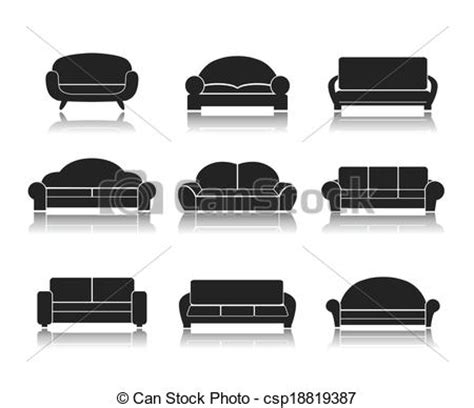 Different Types Of Sofas vector of modern luxury sofas and couches modern luxury