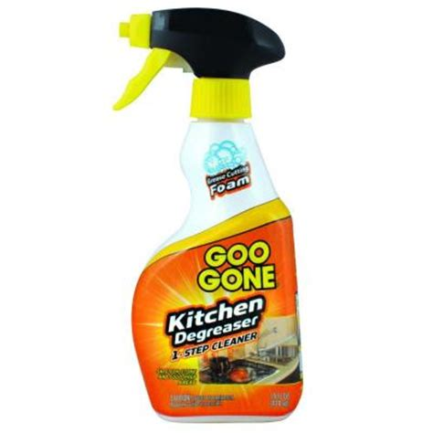 kitchen cabinet grease remover goo gone 14 oz trigger foaming kitchen grease cleaner and