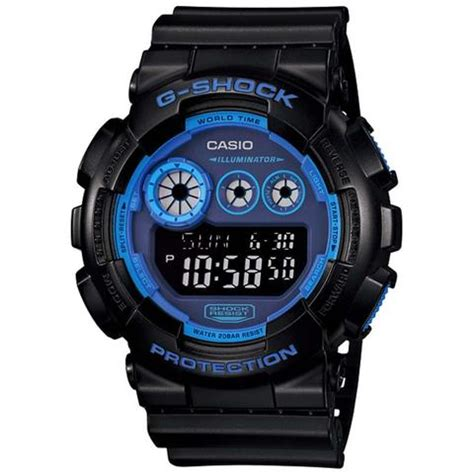 Baby G Casio Dg 120 Blue casio g shock blue 200m big s digital