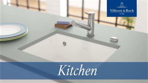 installation undercounter kitchen sinks villeroy boch youtube