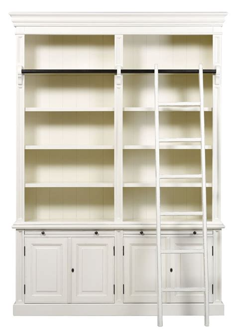 bellahouse classic 4 door bookcase with ladder