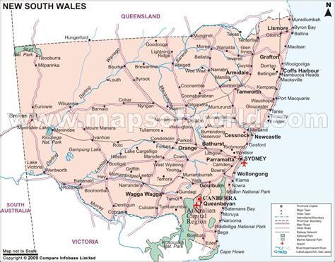 map of new south wales australia nsw australia map