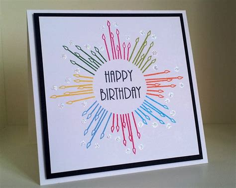 Simple Handmade Birthday Card Designs - maskerade outlawz cas week 2 happy birthday