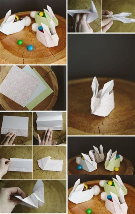 Paper Craft Step By Step - how to fold paper craft origami bunny step by step diy