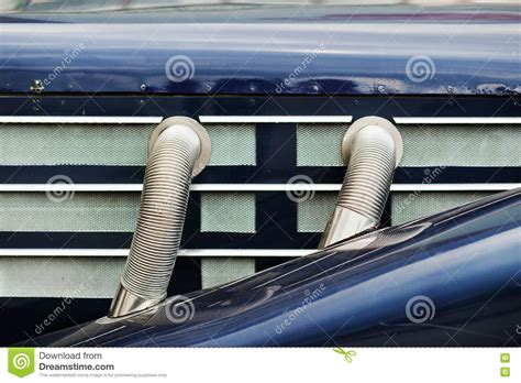 Dunstabzugshaube Seitlicher Abzug by Side Exhaust Pipes On Classic Car Stock Photo Image