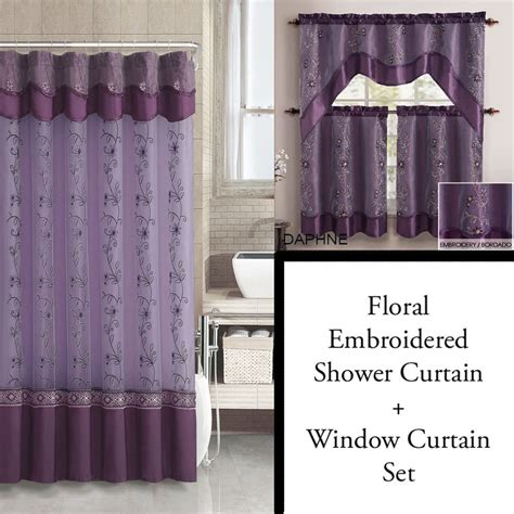 purple and gold curtains purple and gold shower curtain and 3pc window curtain set