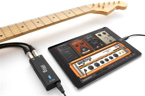 irig hd 2 lets you connect guitar 3 5mm headphone to apple s iphone via lightning