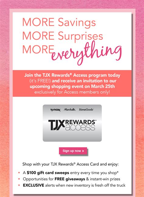 Tjx Rewards Sweepstakes - tj maxx private shopping exclusive join tjx rewards today milled