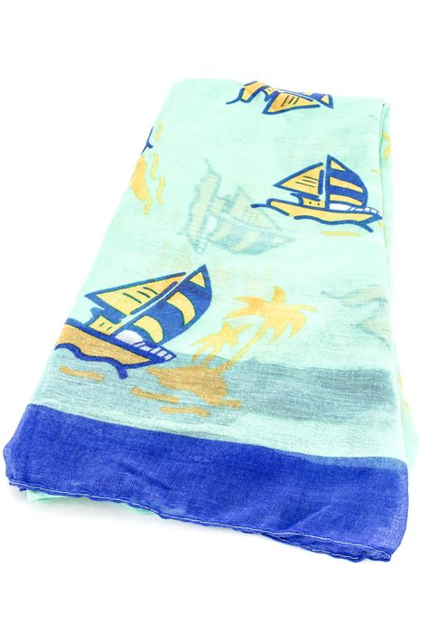 sailboat gloves woven sailboat print scarf scarves