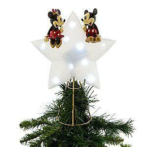 disney tree toppers for christmas trees disney mickey minnie light up tree topper new htf ebay