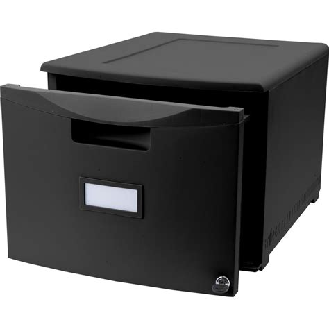 One Drawer File Cabinet Small Black Filing Cabinet For Office File Management
