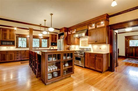 kitchen with wood cabinets 37 craftsman kitchens with beautiful cabinets designing idea
