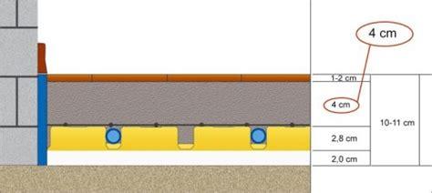 spessore massetto riscaldamento a pavimento massetto sopra impianto a pavimento semplice e comfort