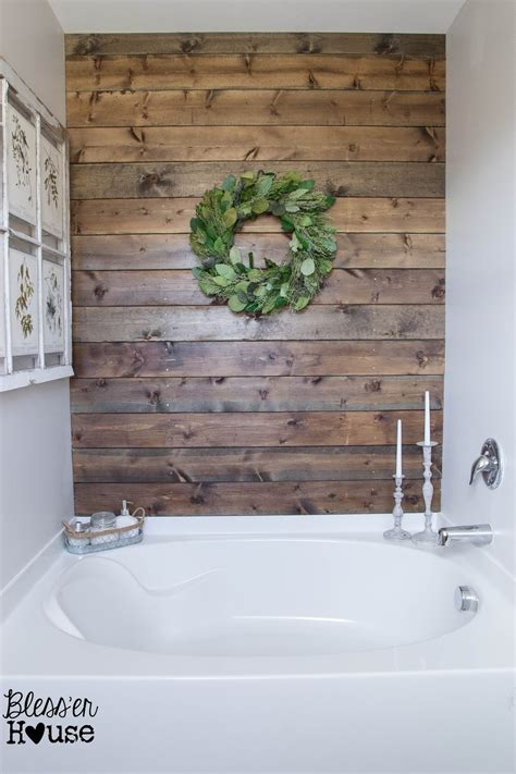 install an accent wall wood paneling ideas for coastal walking the plank master bathroom progress planked
