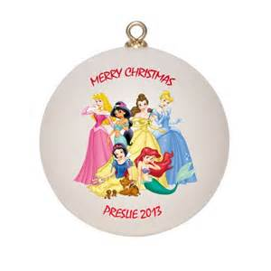 disney princesses personalized custom christmas ornament