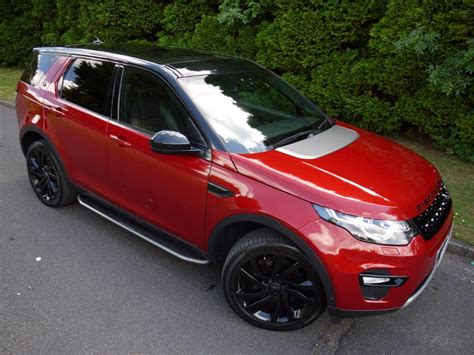 land rover discovery sport red used firenze red metallic land rover discovery sport for