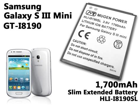 Baterai Power Samsung S3 Mini hli i8190sl buy mugen power 1700mah extended battery for