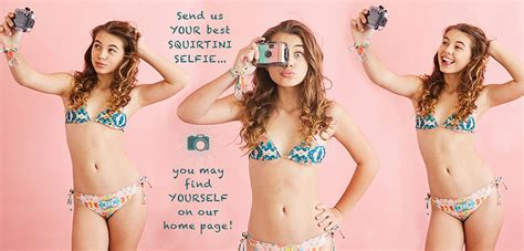 selfie tween girls swimwear squirtini bikini home