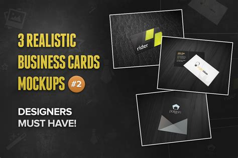 3 realistic business cards mockup templates 3 realistic business card mockups 2 product mockups on