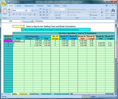 lunch break schedule template calendar template 2016