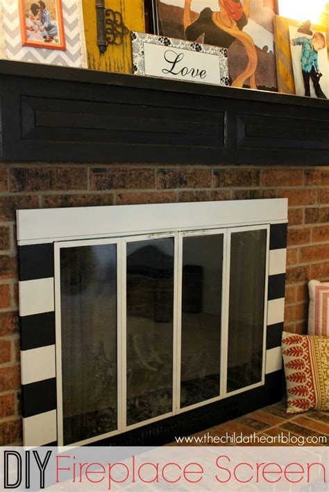 diy fireplace screen update child at