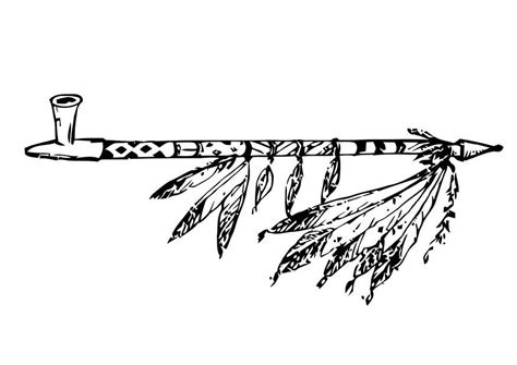 Black And Piven Smoke The Peace Pipe Together by Coloriage Calumet De La Paix Img 18756