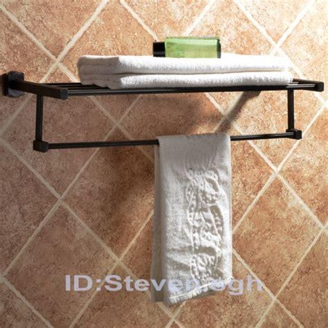 Bronze Towel Shelf by New 24 Quot Rubbed Bronze Towel Rack With Shelf Towel Bar