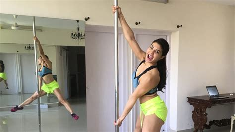 jacqueline fernandez pole workout fitness tips