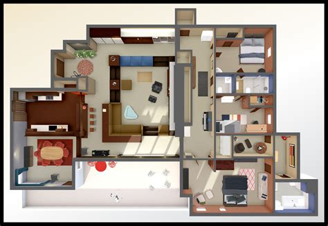 layout of don draper s house a virtual look into don draper s mad men apartment archdaily