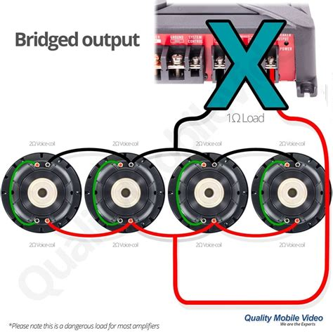 audio and subwoofer 4 ohm wiring diagram single