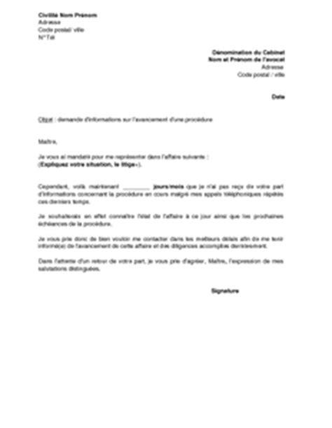 Modèle De Lettre à Un Avocat exemple gratuit de lettre demande information 224 avocat