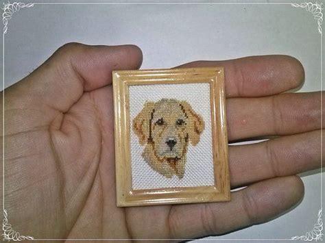 golden retriever house dog dog golden retriever miniature doll house cross stitch mis miniaturas en punto de