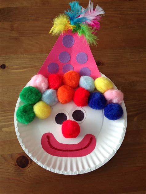 Preschool Paper Plate Crafts - paper plate clown craft circus craft preschool craft