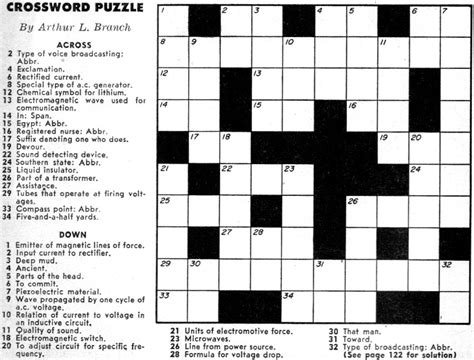 crossword puzzles crossword puzzle september 1957 popular electronics rf cafe