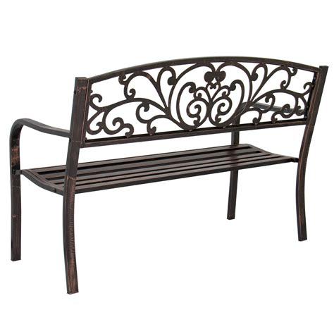 outdoor bench frames bcp 50 quot patio garden bench park yard outdoor furniture