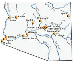 central arizona project map dams along the gila casa grande ruins national monument