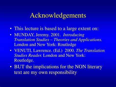 Ppt Translation Theory And The Non L Iterary Text
