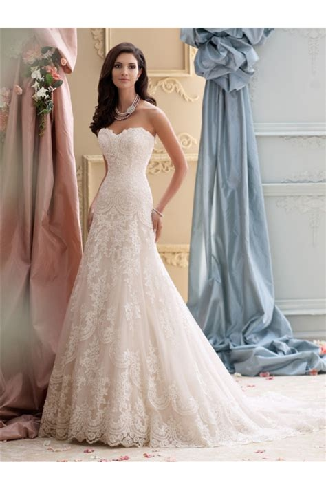 glamour a line strapless vintage wedding dress court