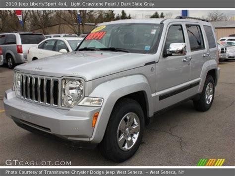 Jeep 4x4 2010 Light Graystone Pearl 2010 Jeep Liberty Sport 4x4