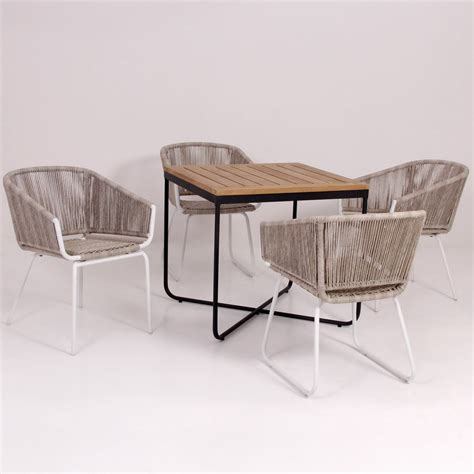 Wicker Dining Table Set Rattan Dining Room Table And Chairs Albires Collection Modern And Stylish