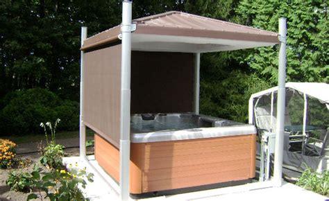 outdoor whirlpool selber bauen gazeebo cabana escape tub cover shelter bullfrog