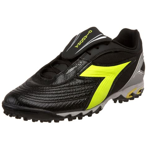 turf shoes diadora mens kobra lt turf soccer shoe in black for