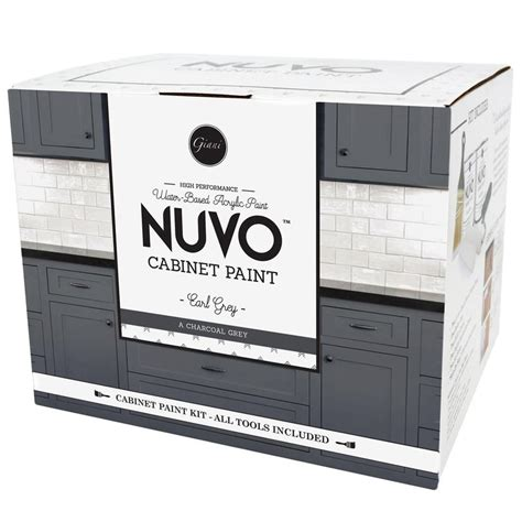 nuvo cabinet paint grey nuvo earl grey cabinet paint kit giani inc